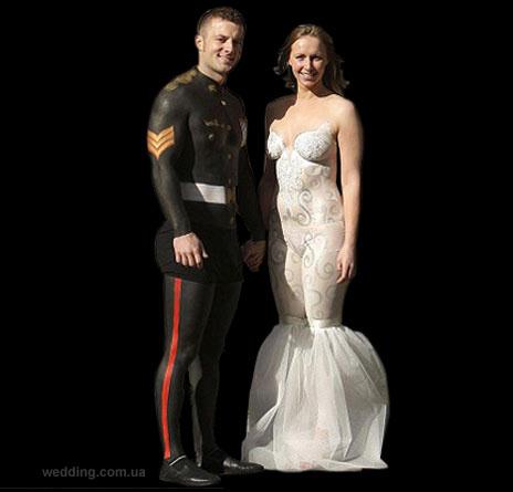Необычные свадебные платья фото.
